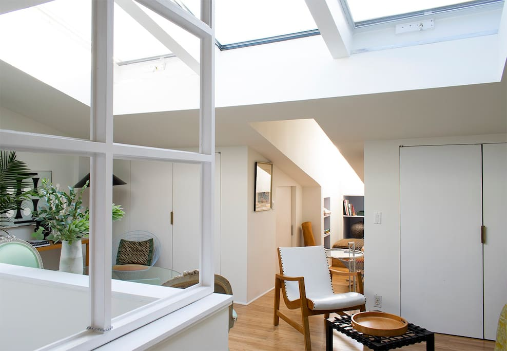 Many guests wish they could live in  the architecturally distinctive apartment.