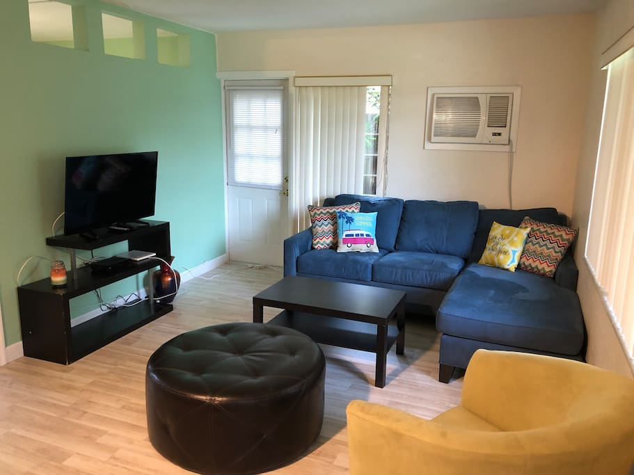 TV room with pull out sofa