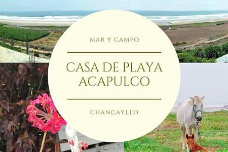 Habitación Matrimonial Casa de Playa / Campo