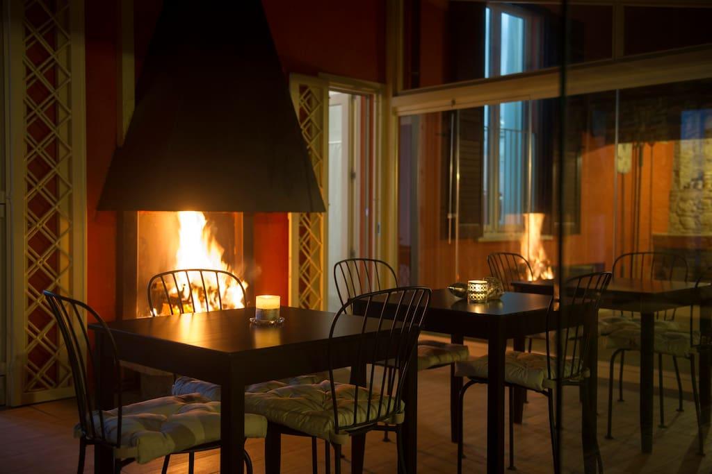 Sala colazioni di notte