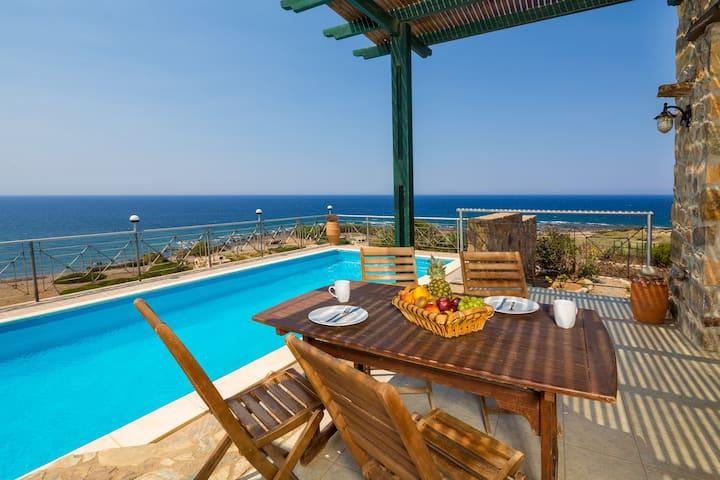 Villa Elafonisi private pool-13 min from Elafonisi
