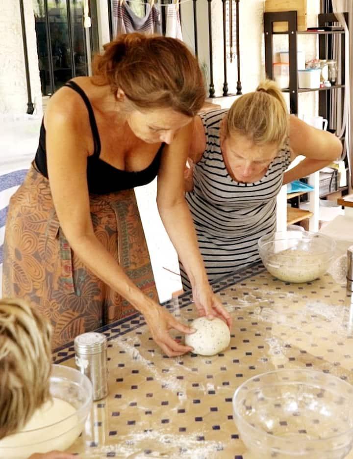Testing the dough