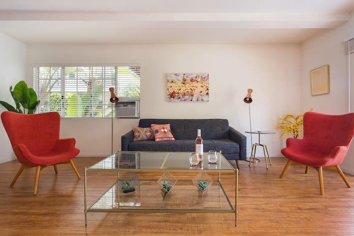 Mid Century Modern 2 Bedroom with Patio in West LA