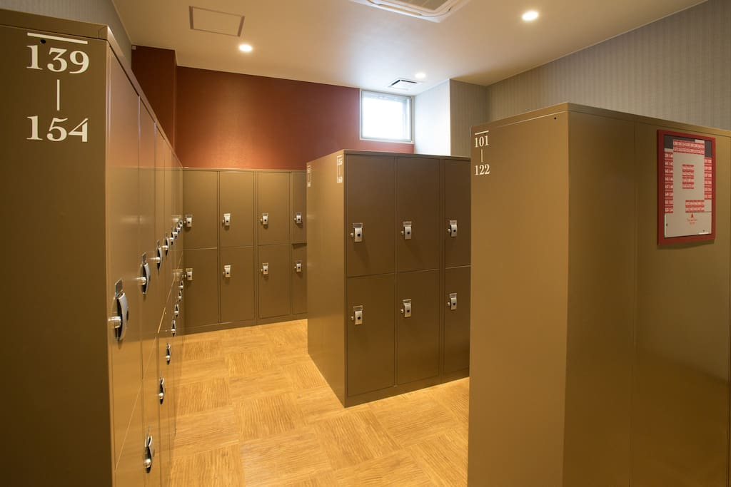 Free lockers for the guests.
