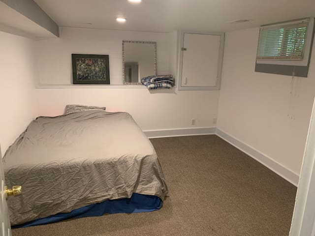 Cooler and cozy room close to D-town Denver