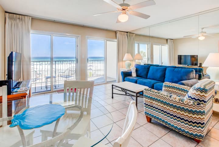 Jan 28-31 $534⭐Beach FRONT⭐Balcony⭐Heated Pool⭐2X Sanitized⭐Windancer 204