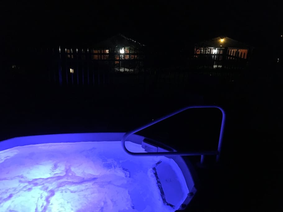 Enjoy the hot tub after a long day of fun! Open 3-10pm