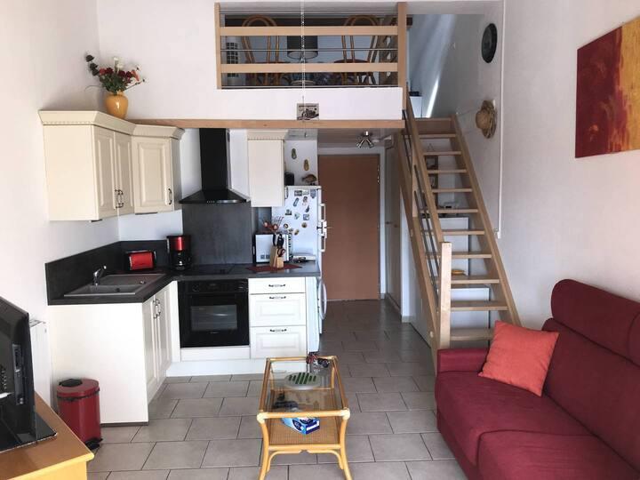 Bel appartement moderne, centre port Cap d'Agde, parking