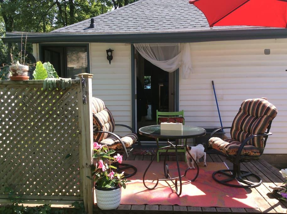Back patio.