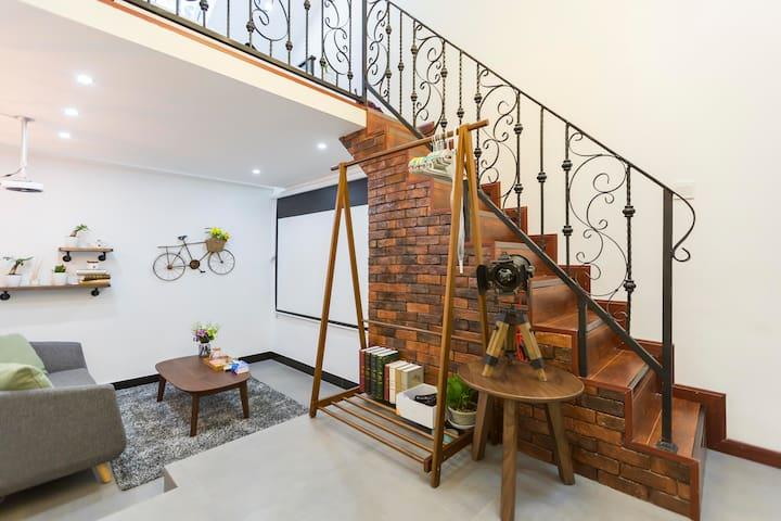 上海老法租界%100寸家庭影院@独立loft#比邻日月光@田子坊 - Shanghai - Apartemen