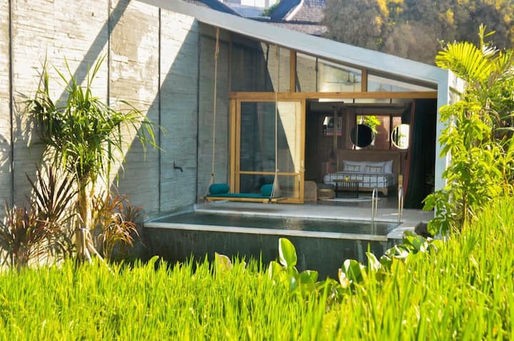 One Bedroom Villa With Ricefield View @Canggu
