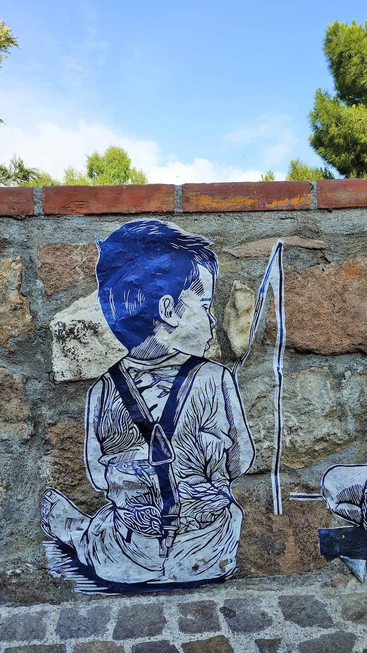 Street art dans les rues de Cannes
