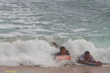 Enjoy playing with the waves at our beach with bodyboards