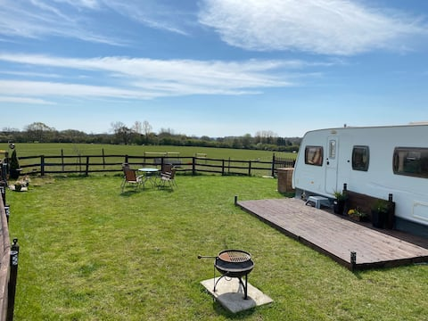 Countryside Caravans with a View