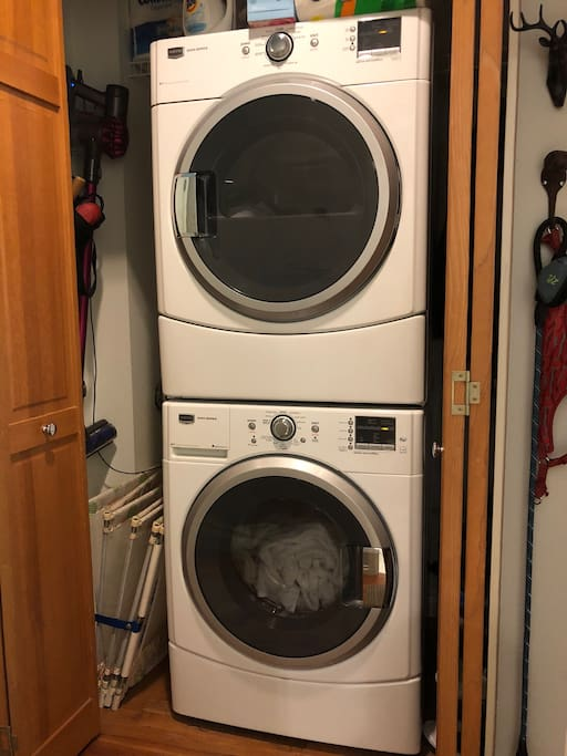 In unit washer and dryer available for guest use.