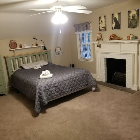 quiet, relaxing, country setting-fireplace bedroom