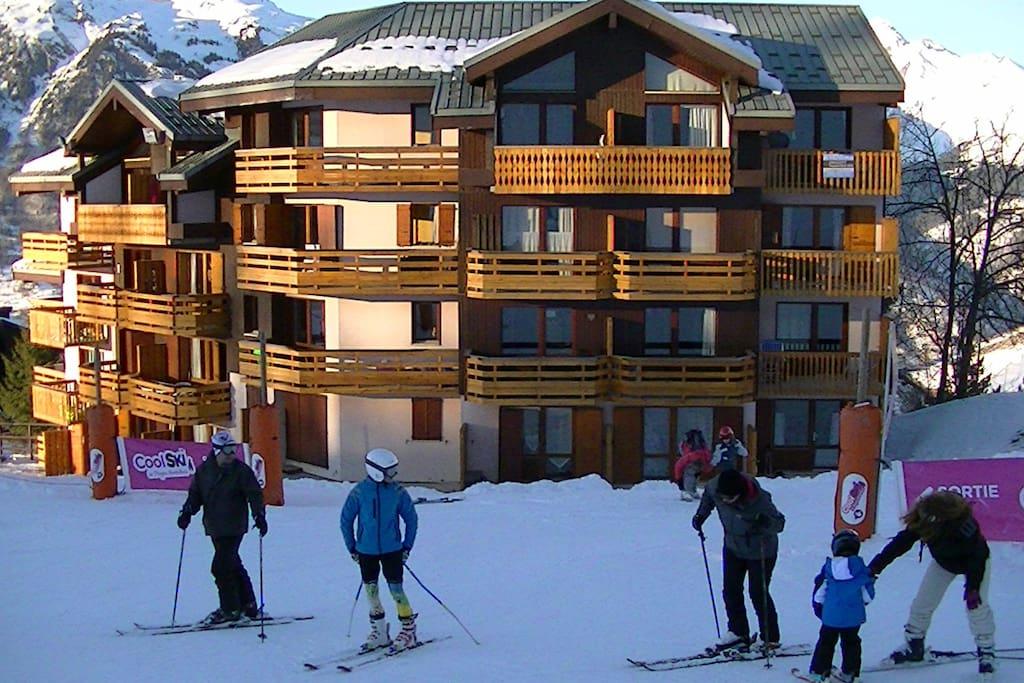 Appartement Skis aux pieds!