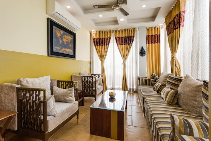 Tranquil 2BHK apartment with Terrace Garden