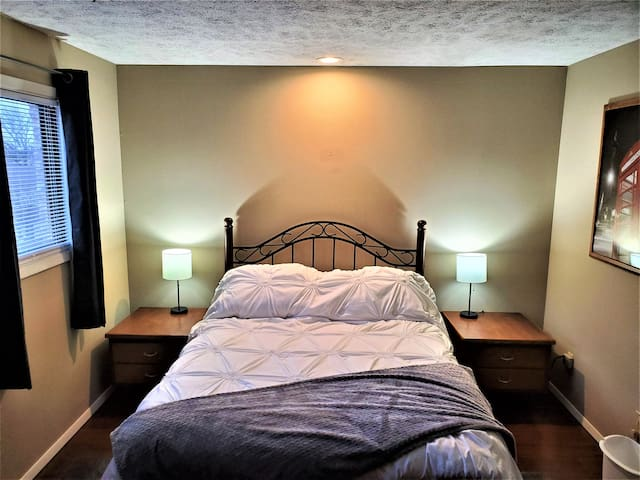 Private condo, sits 2 blocks from major roads.