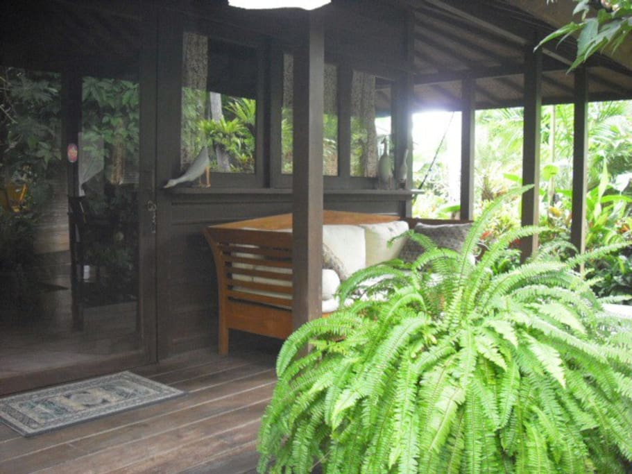Entry and front porch to Bungalow Melati.