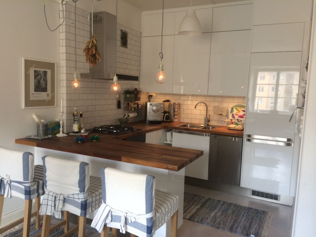 Newly refurbished, fully equipped kitchen with room for four