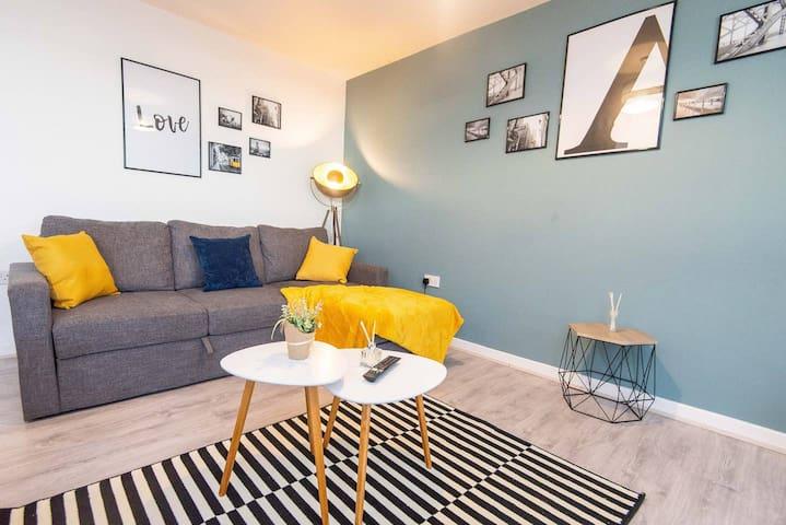 ⭐❤️Stunning City Centre Apartment FREE PARKING⭐❤️