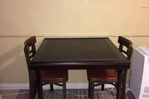 """This is the huge dining table. There is now a Samsung smart TV mounted over the table. For local and basic cable go to the """"Spectrum"""" app and then push ch list for channel list. Sometimes the app doesn't work especially if you're using other wifi devices."""
