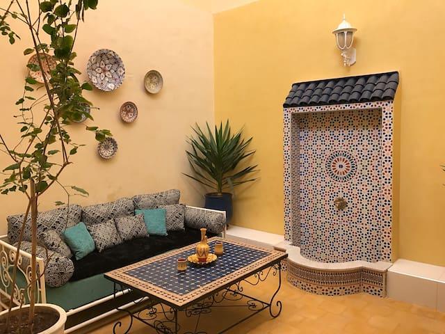 Charmante maison riad face à l'océan - El Jadida - Huis
