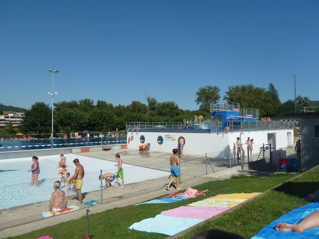 Regibad - 5 Min walk  / good for swimmtraining water temp. ca. 26°C