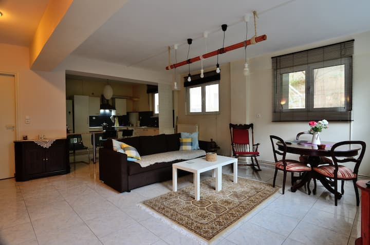 Spacious apartment in a quiet district near metro