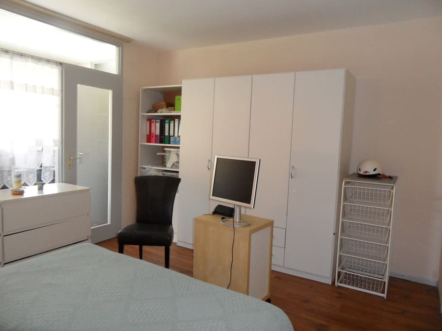 Bedroom with monitor