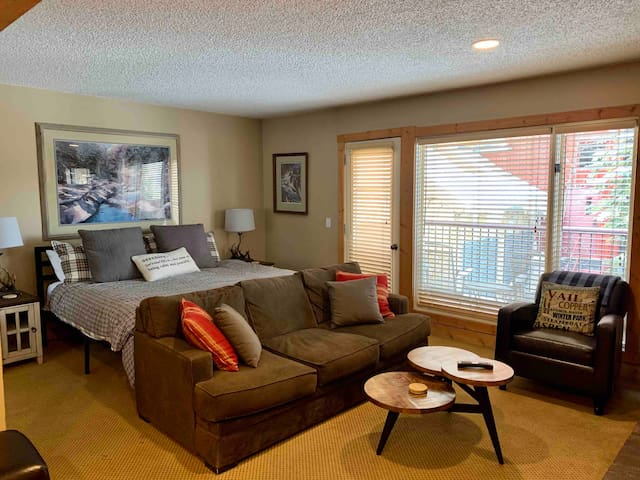 Cozy King Studio off Main St/Chairlift Park Free
