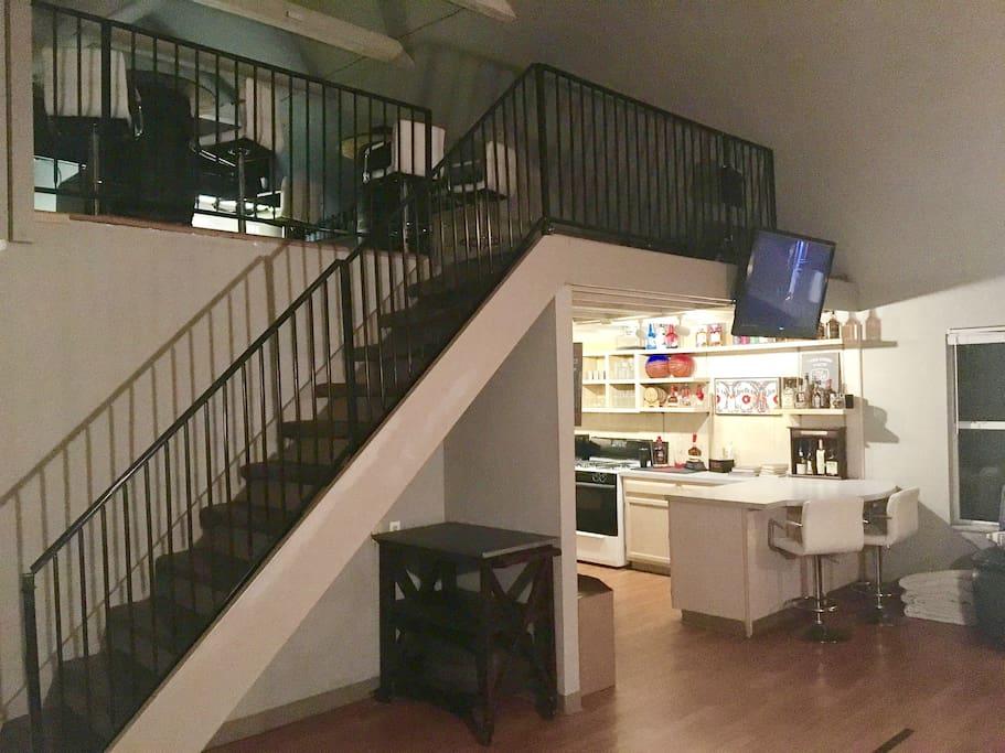 Open plan loft style