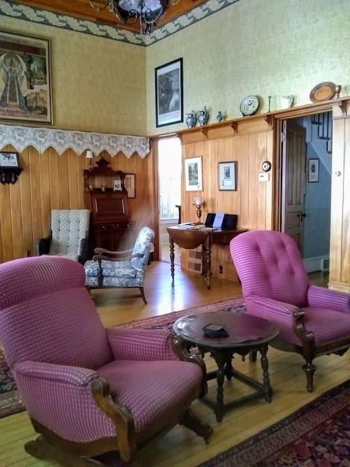 The double height living room was an unusual feature in the late 19th Century.