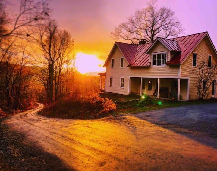 Modern Vermont Farmhouse nestled in the Mountains