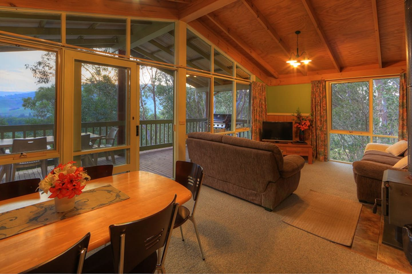 Spa Cottages -Lounge,  Dining area and Balcony.