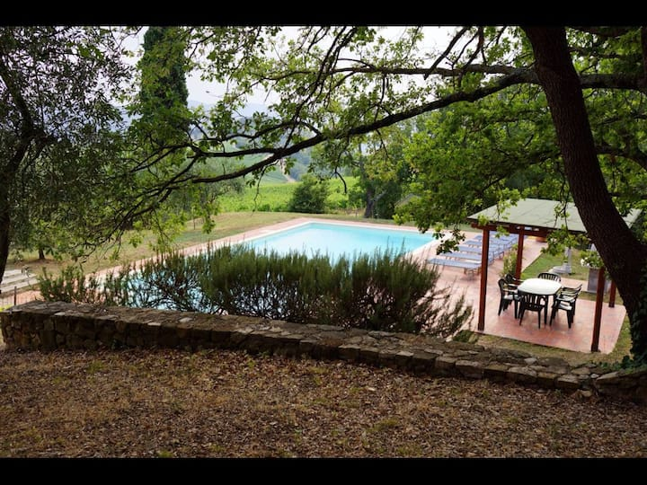 Villa with swimming pool (not shared)  (sleeps 6)