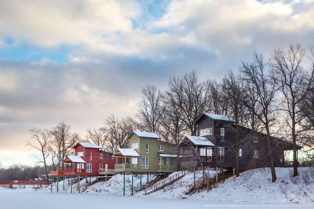 Наши дома, вид зимой