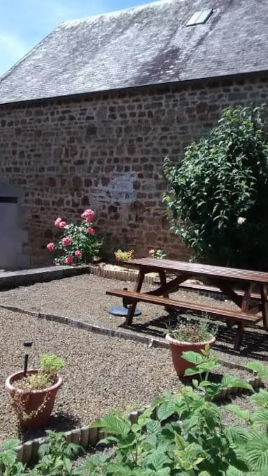Lovely seating area ideal for relaxing in the sun