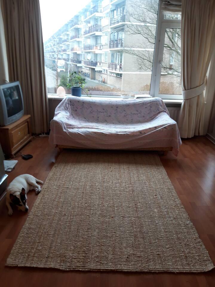Leuk appartement met gerenoveerde badkamer.