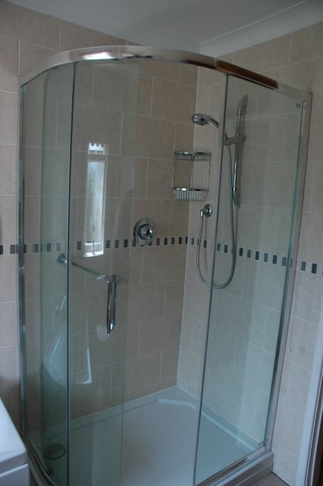 Family Bathroom with large shower, bath and toilet