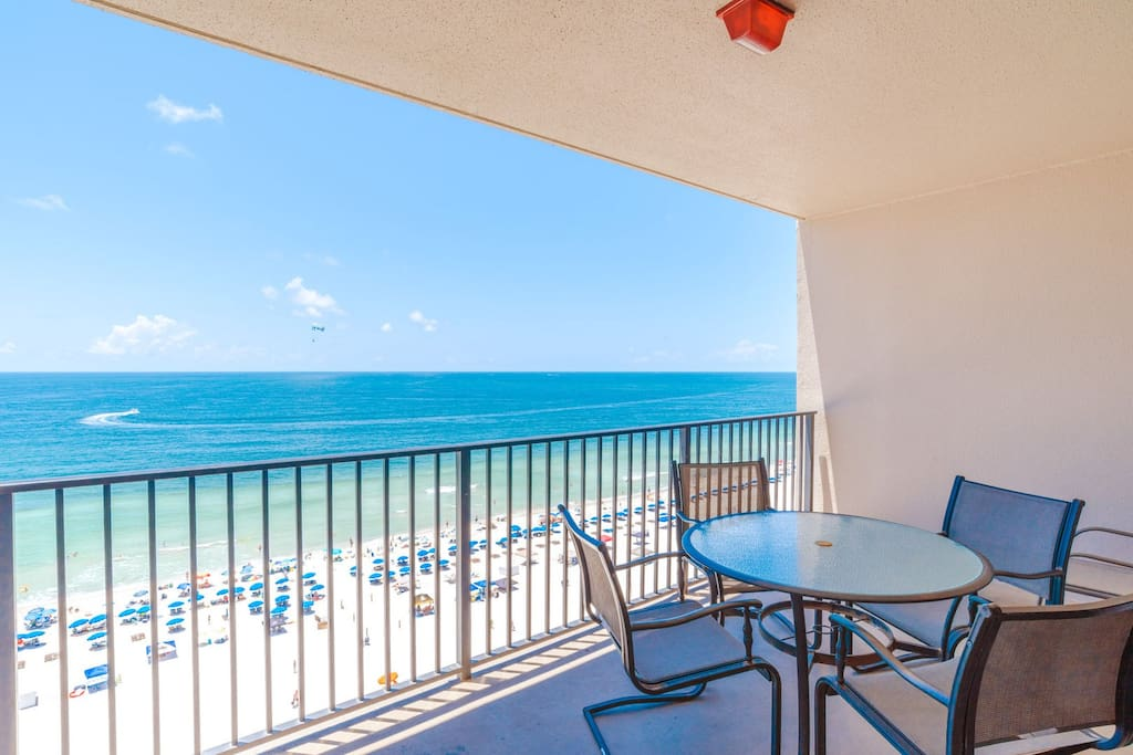 Enjoy your morning coffee with a beachfront view