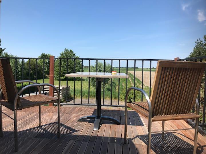 Zon, Luxe woning, keuken, vrij uitzicht,  balkon