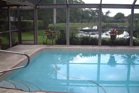 Private BR/Bath+Breakfast, Lake-View Pool/Patio - House