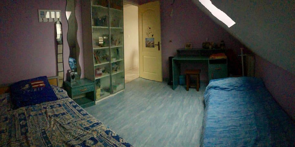 Chambre(3)maison autour d'1 espace boisé reposant