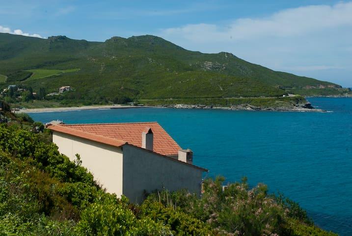 180° sur la mer et terrasse géante - Pietracorbara - Rumah