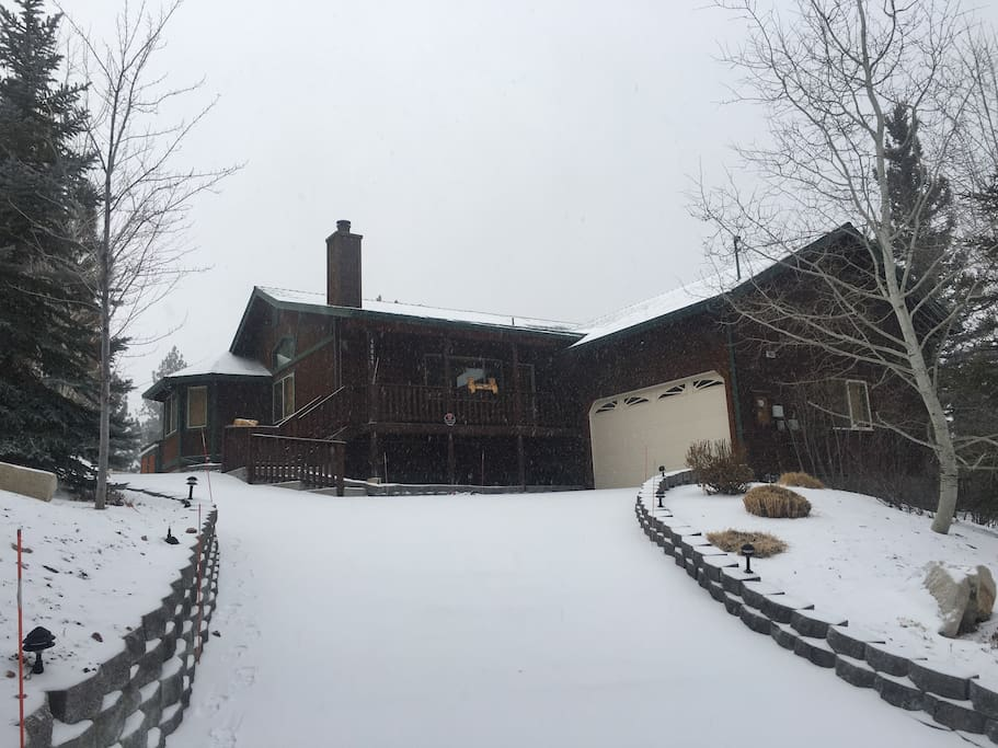 The Cub House in the snow