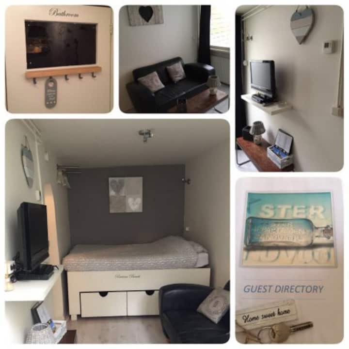 Studio at the beach for 1 - 2 persons.