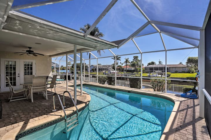Astounding Waterfront Cape Coral Home w/Pool!