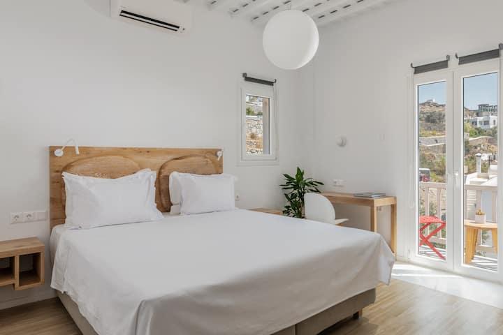 GaZía_Exquisite seaview apartment in Mykonos town